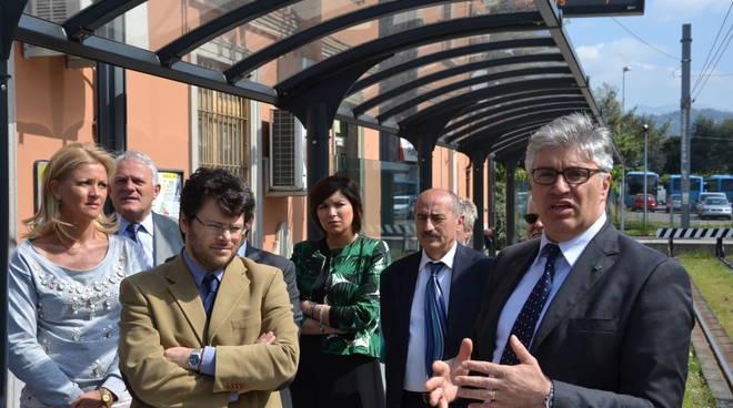 Il sindaco Fabio Terzi e il presidente Teb Nunziante Consiglio