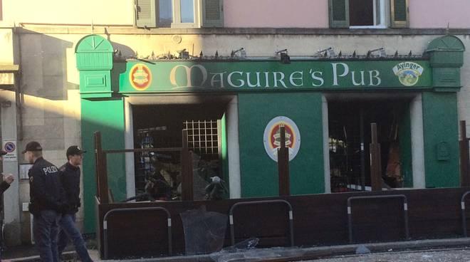 L'esplosione al Maguire's Pub