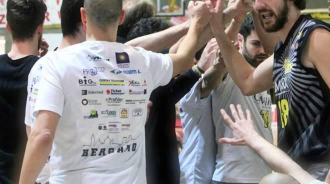 La Co.Mark Bergamo Basket impegnata con Udine