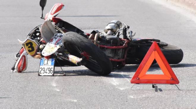 La moto del 22enne di Montello