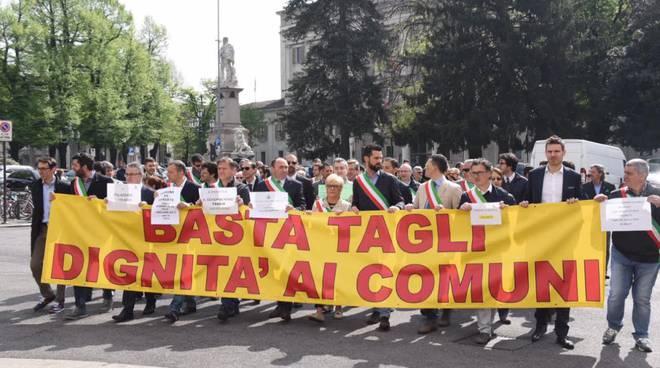 Manifestazione dei sindaci