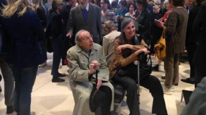 Trento Longaretti all'inaugurazione dell'Accademia Carrata