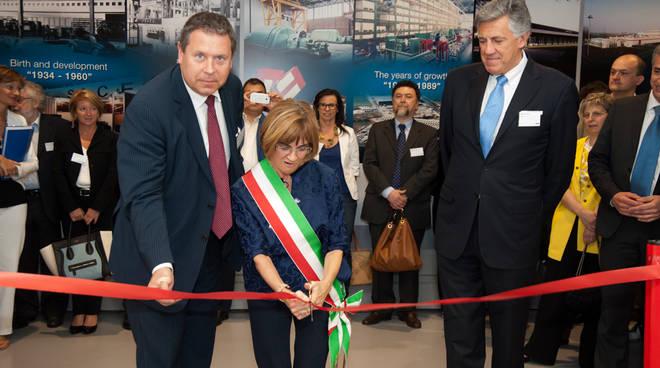 Il sindaco di Dalmine, Lorella Alessio, ha tagliato il nastro della nuova struttura.