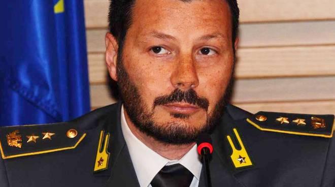 Il tenente colonnello Simone La Rocca dell'Accademia della Guardia di Finanza.