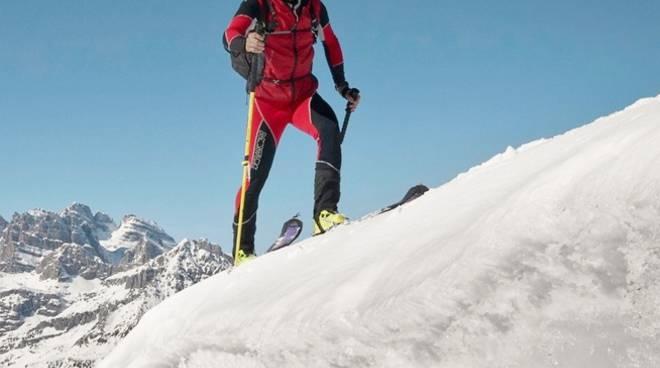 L'alpinista Luca Montanari