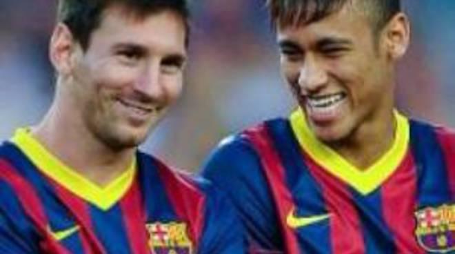 Leo Messi e Neymar (Barcellona)