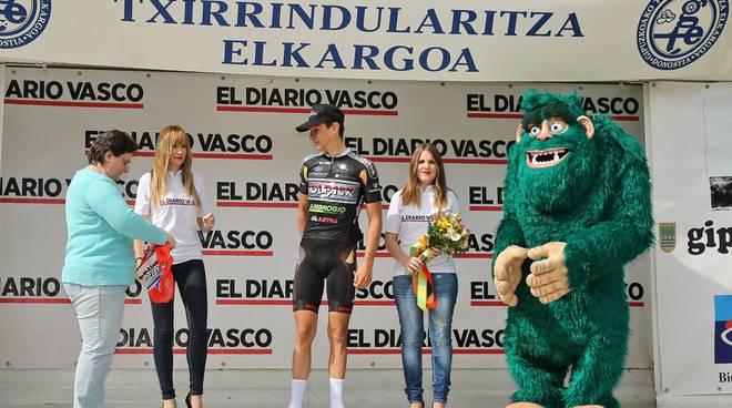 Martinelli sul podio basco