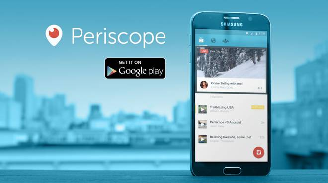 Periscope finalmente anche su Android (foto medium.com)