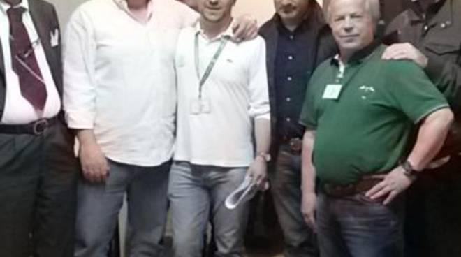 Daniele Belotti con il neo sindaco di Sorisole Stefano Vivi