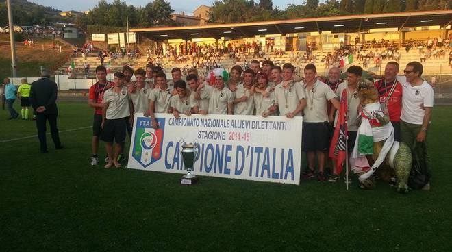 Gli Allievi '98 dell'AlzanoCene campioni d'Italia