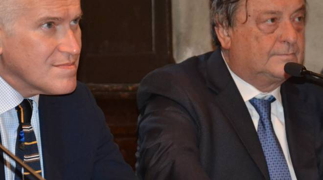 Maurizio Belpietro con Franco Tentorio