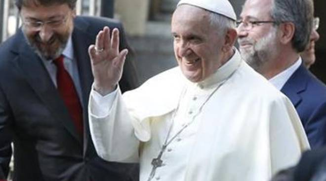 Papa Francesco con il pastore della Chiesa Valdese di Torino