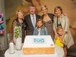 Pietro Santini con la famiglia festeggia il mezzo secolo di attività