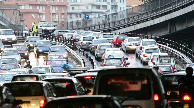 Traffico in tllt a Bergamo