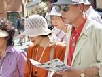 Turisti a Bergamo