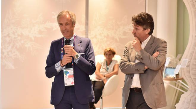 Carlo Pesenti, consigliere delegato di Italcementi, e Walter Mariotti