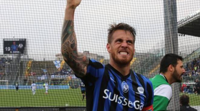 Denis al termine di Atalanta-Empoli del 26 aprile 2015