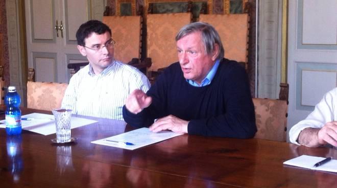 Don Ciotti con il rettore Paleari