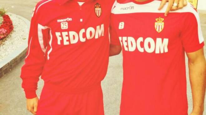 Gaetano Monachello, a sinistra, con Radamel Falcao ai tempi del Monaco (foto Twitter Gaetano Monachello)