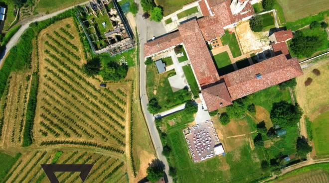 Il monastero di Astino fotografato dall'alto con un drone