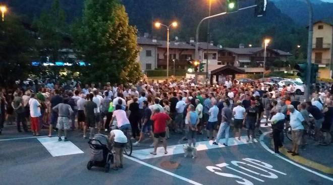 La protesta a Rovetta