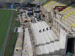 Stadio Comunale, lavori avanti senza sosta