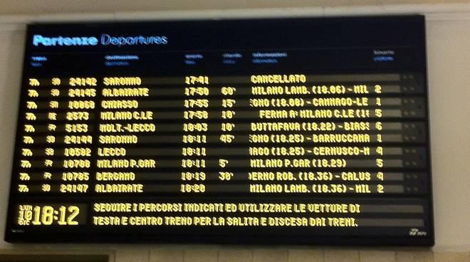 Treni lombardi: ritardi aumentati nei primi sei mesi dell'anno
