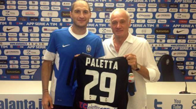 Gabriel Paletta col presidente Percassi (foto Atalanta.it)