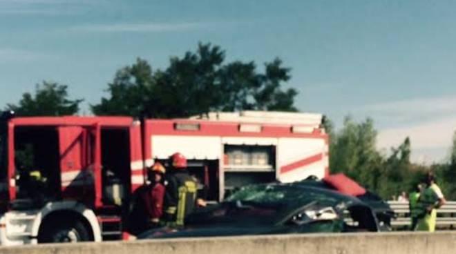 L'immagine del'incidente in A4