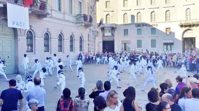 Il FlashMob della Scherma Bergamo