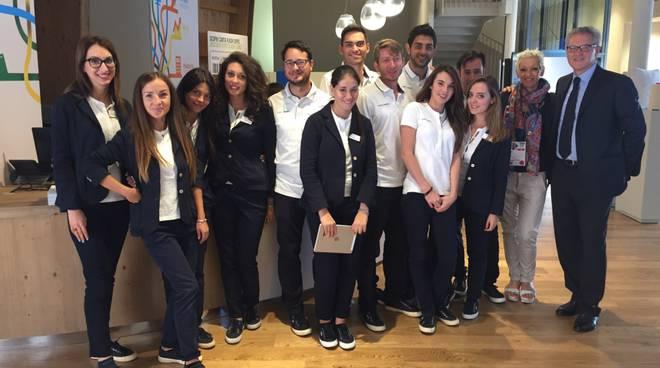 Il gruppo della Martinelli Ginetto Spa presente ad Expo