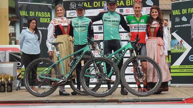 Il podio della Val di Fassa Bike Volpo Cup