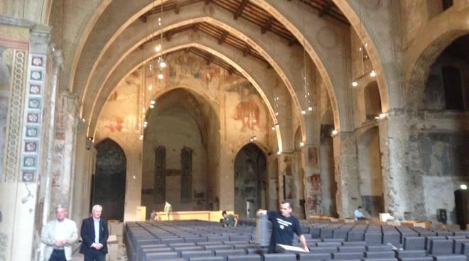 L'aula magna dell'Università di Bergamo in Sant'Agostino