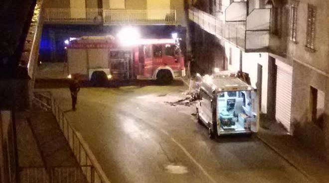 L'incidente di martedì all'alba ad Almenno San Salvatore