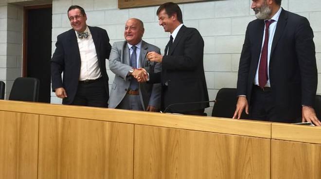 La consegna delle chiavi della nuova sede del tribunale