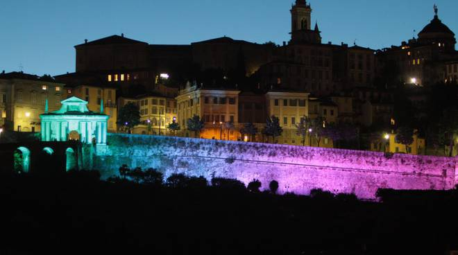 Le Mura venete illuminate a led