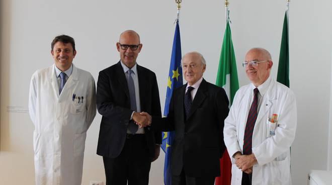 Da sinistra: Andrea Gianatti, Peter Assembergs, Miro Radici e Roberto Labianca