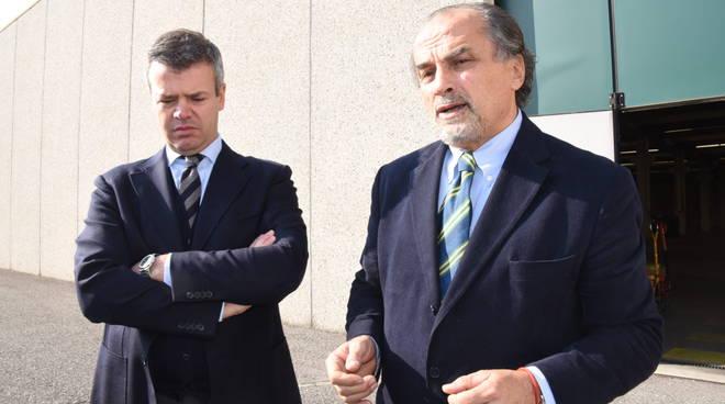 Da sinistra Andrea Moschetti, presidente Faac e Gianfausto Foresti nuovo ad