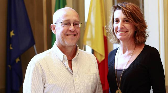 Dave Douglas con l'assessore Nadia Ghisalberti