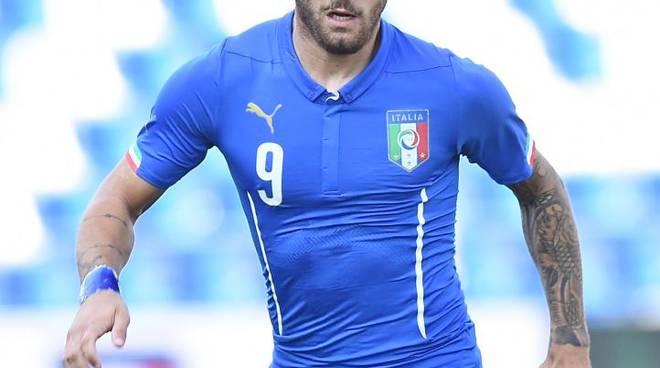 Gaetano Monachello con la maglia dell'Italia