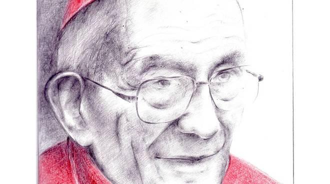 Il cardinale Loris Francesco Capovilla - disegno di Luigi Oldani