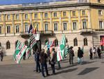 Il flashmob dei lavoratori Italcementi