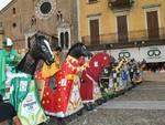 Il Palio di Lodi con i cavalli a rotelle