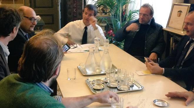 Il sindaco Gori con i parlamentari