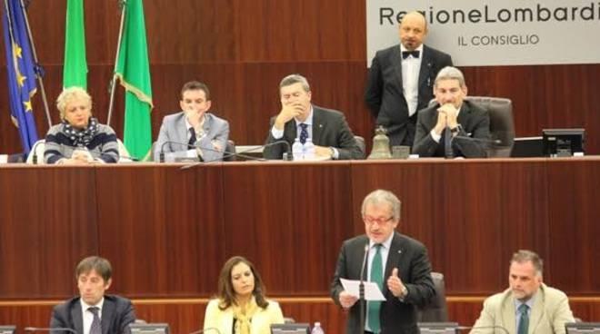 La seduta del Consiglio regionale in cui è stata chiesta la sfiducia a Maroni