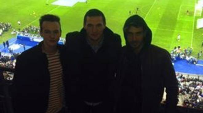 Daniele Bergomi allo Stade de France con due amici