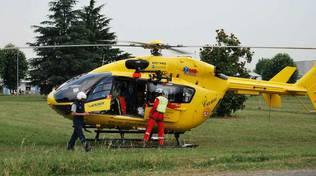 L'elisoccorso per trasportare un bimbo di 9 anni caduto a Songavazzo