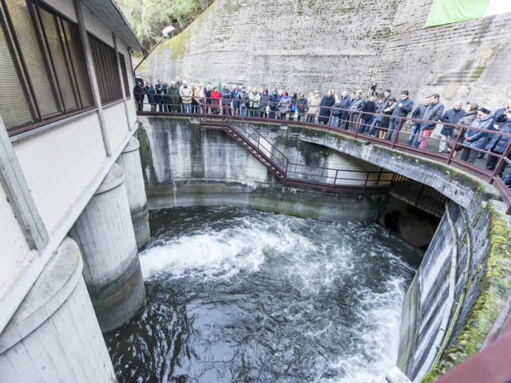 La derivazione dell'area opera di presa del canel dell'Adda a Calusco d'Adda.