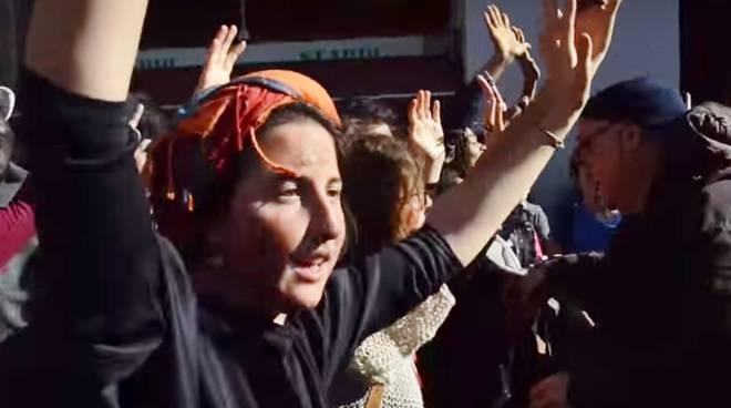 La manifestazione pacifica a Bologna