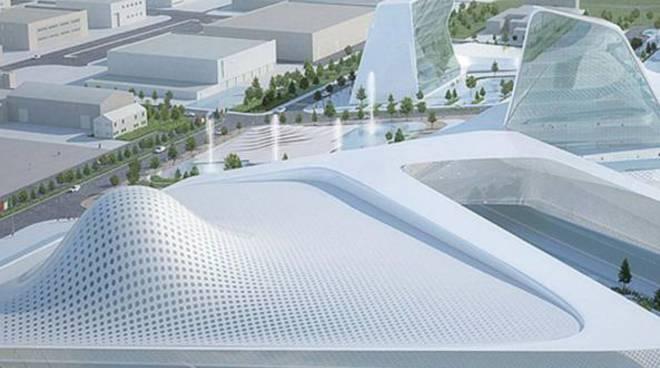 La nuova ala di Oriocenter in fase di costruzione
